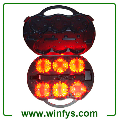 6-Pack Rechargeable Led Road Flares Amber Orange Led Light
