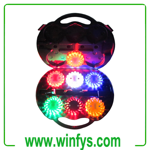 6-Pack Rechargeable Led Road Flares Kits
