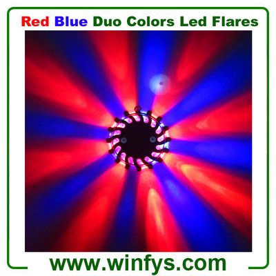 Blue/Red Led Flares Puck With Black Case
