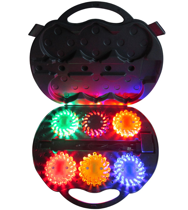 6-Pack Emergency Personal Rechargeable LED Hazard Warning Lights