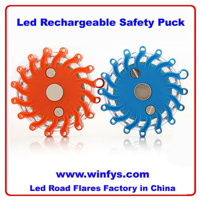Rechargeable LED Safety Puck Light