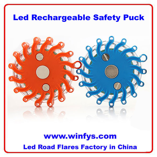 Rechargeable Led Safety Puck Lights