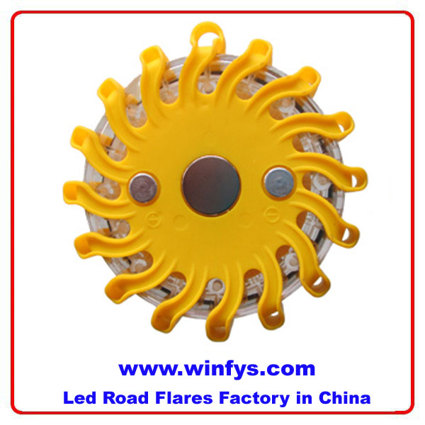 yellow led road flares