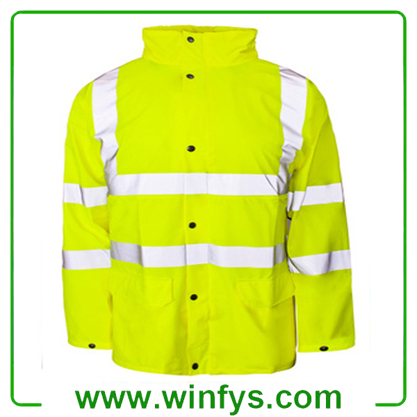 Hi-vis Reflective Safety Rain Coat