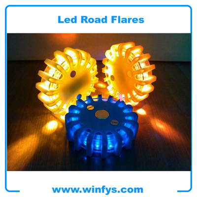 amber yellow blue emrgency led road flares
