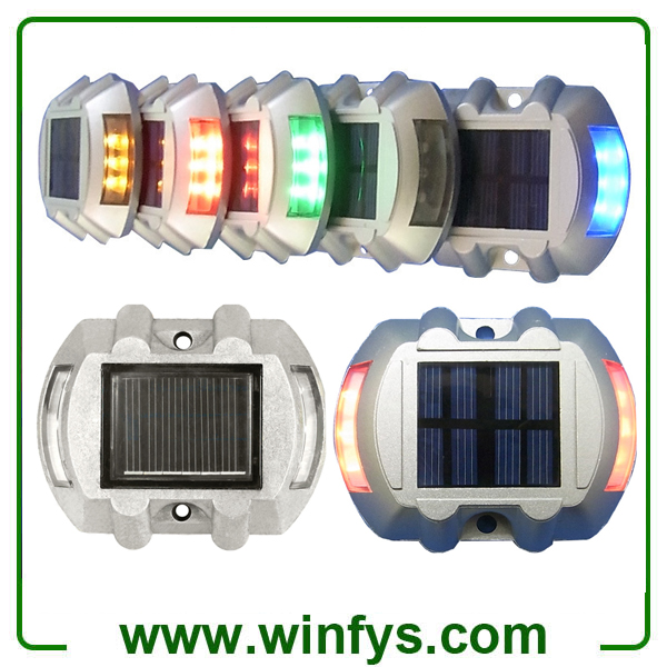 Red Green White Blue IP68 Aluminum Solar Powered Led Road Driveway Path Lights