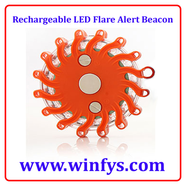 Rechargeable LED Flare Alert Beacon