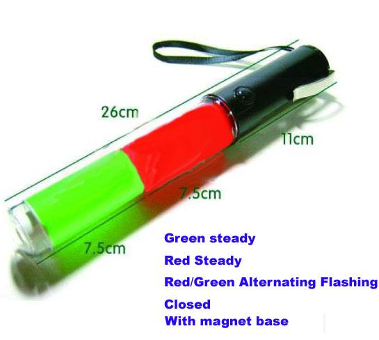 Led Traffic Wand 26cm Red Green Led Traffic Baton
