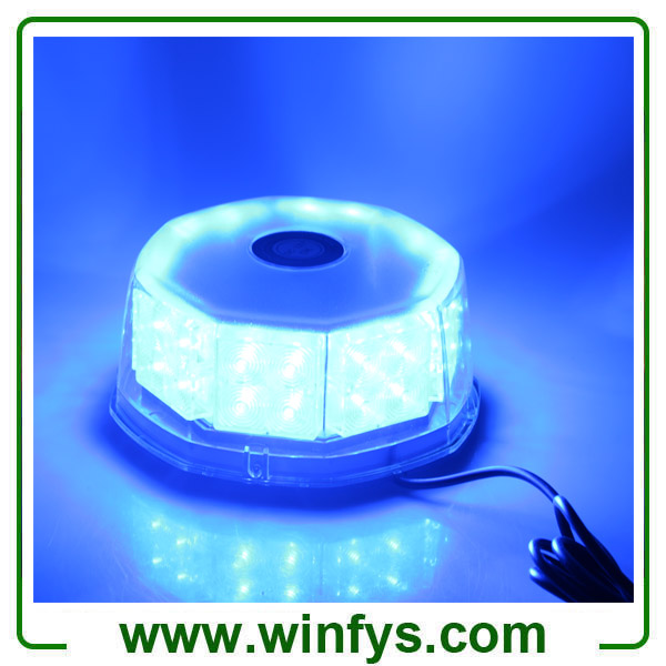 12V 240LED Car Truck Vehicle Beacon Light Magnetic Flash Beacon Light Led Emergency Warning Strobe Lights Blue