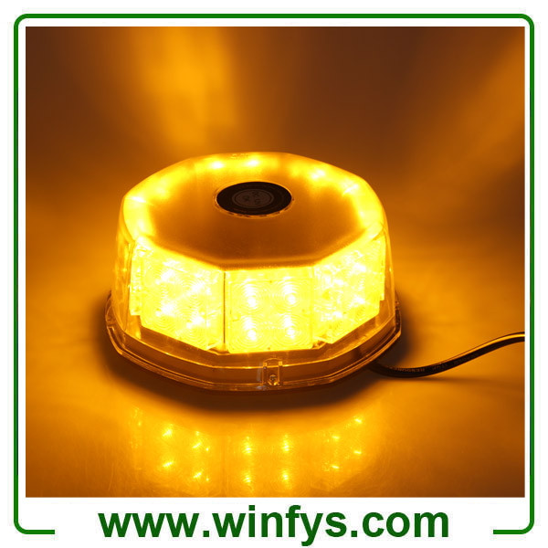 12V 240LED Car Truck Vehicle Beacon Light Magnetic Flash Beacon Light Led Emergency Warning Strobe Lights Amber Yellow