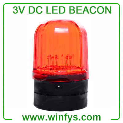 3V DC Led Beacon Lights Red Yellow Blue Green