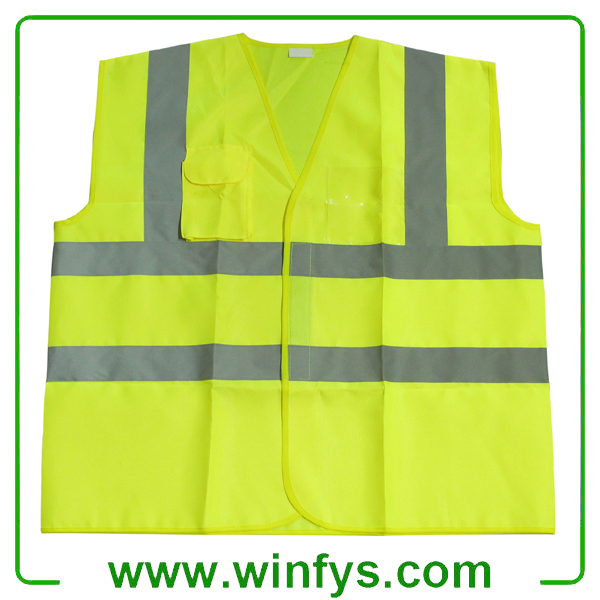 1.High Visibility Reflective Vest Specifications  1.Material:100% polyester and reflective tape EN471  2.Fluorescent yellow or orange  3.Size:S.M, L, XL  4.Packing:each in a ploy-bag  2.High Visibility Reflective Vest Features  Reflective Safety Vest 1)EN 471-class2 Reflective tapes 2)EN471 120G 100%polyester knitted  3)EN471,CE Standard  4)High-visibility Certification	Conforms to EN471  class 2 Material	100%polyester  knitted or Oxford Color	fluorescent  orange, yellow/navy blue,fluorescent yellow/navy blue Outshell	100%polyester Lining	 No Padding	 No Additional Function	With Reflective Material on your  garments, you will get double impact:enhanced visibility, as well as  safety apparel personalized just for you. A  reflective logo or graphic can be pasted as requested. OEM order is welcome. Customized logo is accepted.  High Visibility Reflective VestHigh Visibility Reflective VestHigh Visibility Reflective VestHigh Visibility Reflective Vest