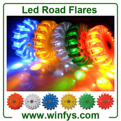 Magnetic LED Road Flares
