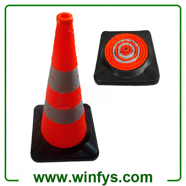 "75cm 28"" Inches Rubber Base Foldable Retractable Collapsible Traffic Cones Pop-up Cones"