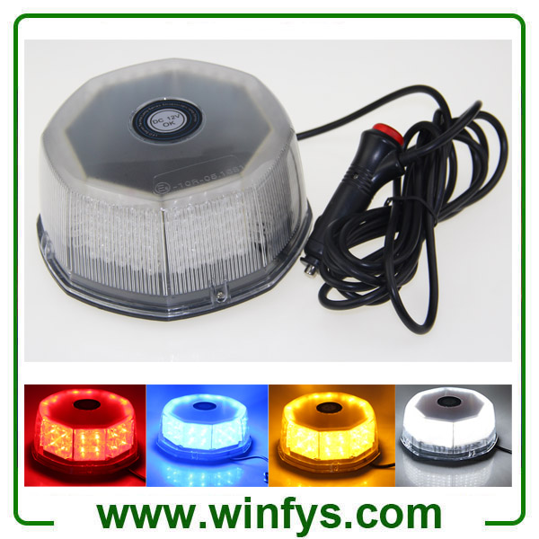 12V 240LED Car Truck Vehicle Beacon Light Magnetic Flash Beacon Light Led Emergency Warning Strobe Lights Red Amber White Blue