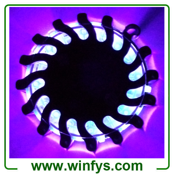 Violet Rechargeable Led Road Flares in Black Shell