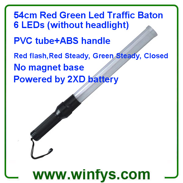 54cm Red Green D Battery Led Traffic Batons Led Traffic Wands
