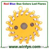 Red Blue Led Road Flares Magnetic Strobe Rechargeable