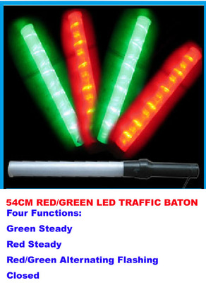 21 Inches 54cm Red And Green Dual Traffic Wand