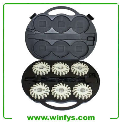 6 Packs Rechargeable Led Emergency Flares White Led Light