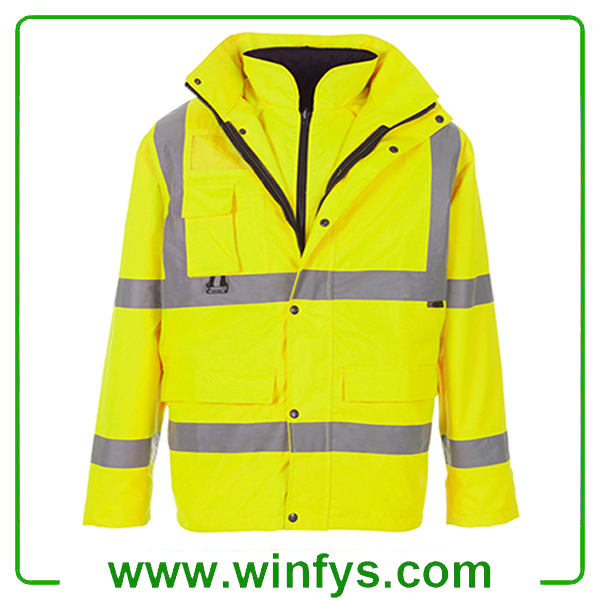 HI-VIS Waterproof Reflective Safety Garment