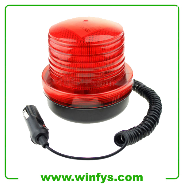 LED Safety Magnet Strobe Beacon 64 LED 12V 24V Amber Yellow Red Led Beacon