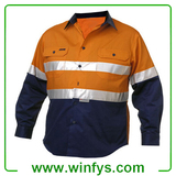 High Visibility Orange Yellow Winter Reflective Coat