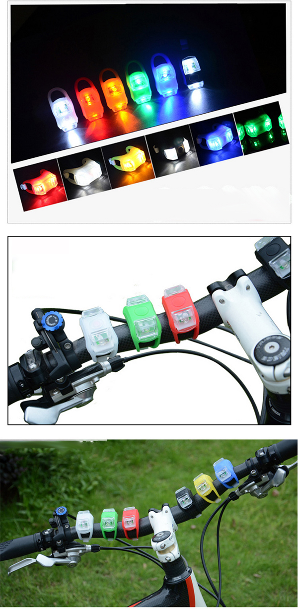 LED Silicone Bicycle Light & LED Bike Tail Light LED Bicycle Light Flash Light