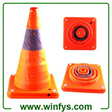 "16"" Inches Retractable Traffic Cone Rechargeable Collapsible Traffic Cones Foldable Traffic Cones"