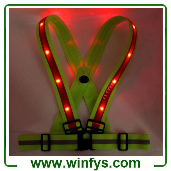 Flashing Led Vest Led Running Vest USB Rechargeable LED Safety Vests
