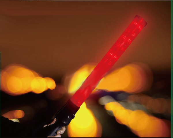 "21"" 54cm Led Traffic Baton with 3 LED headlight"