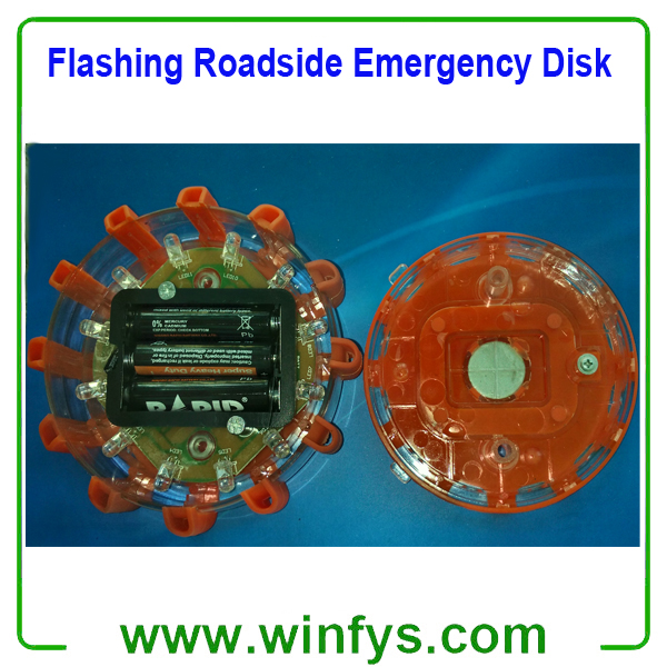 Flashing Roadside Emergency Disk