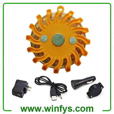 Individual Rechargeable Led Road Flares Amber Orange