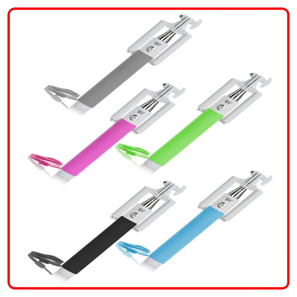 bluetooth selfie sticks with foldable phone grip