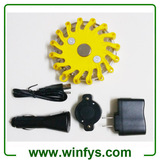 Individual Rechargeable Led Road Flares Yellow