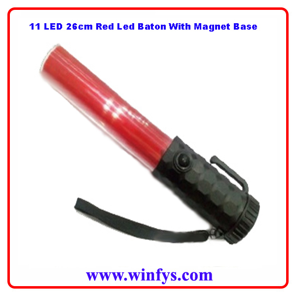 11 LED 10 Inches 26cm Red Led Baton With Magnet Base