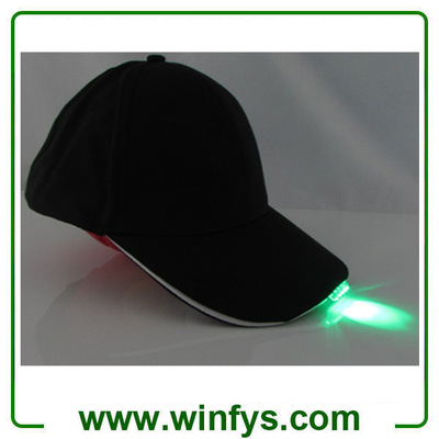 Red Yellow Blue Green Orange White Pink 5 Led Cap Led Baseball Cap Led Flashing Cap LED Hat