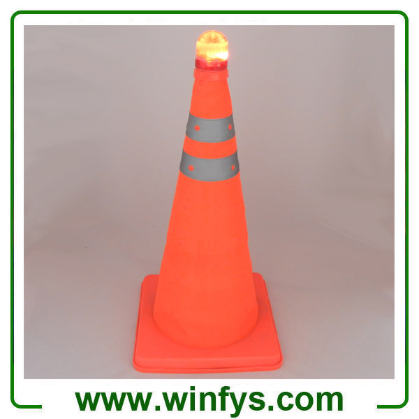 "28"" 70cm 18"" Inch 45cm Foldable Retractable Pop up Collapsible Traffic Cones with Base and Top Lights"