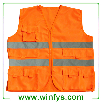 High-Visibility Reflective Vest With Pocket