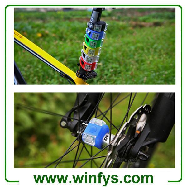 2 LED Bicycle Silicone Light Bike LED Decoration Light Warning Rear Front Lights