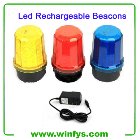 Red Yellow Blue Rechargeable Led Beacons With Magnet Base