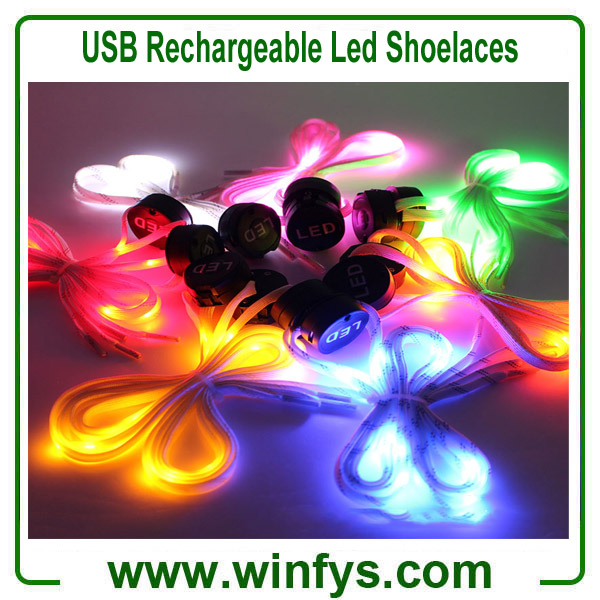 USB Rechargeable Led Shoelaces