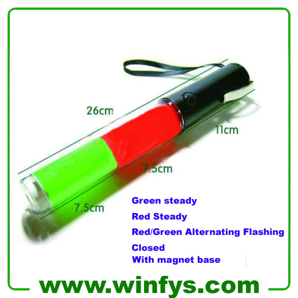Led Traffic Wand 26cm Red Green Led Traffic Baton
