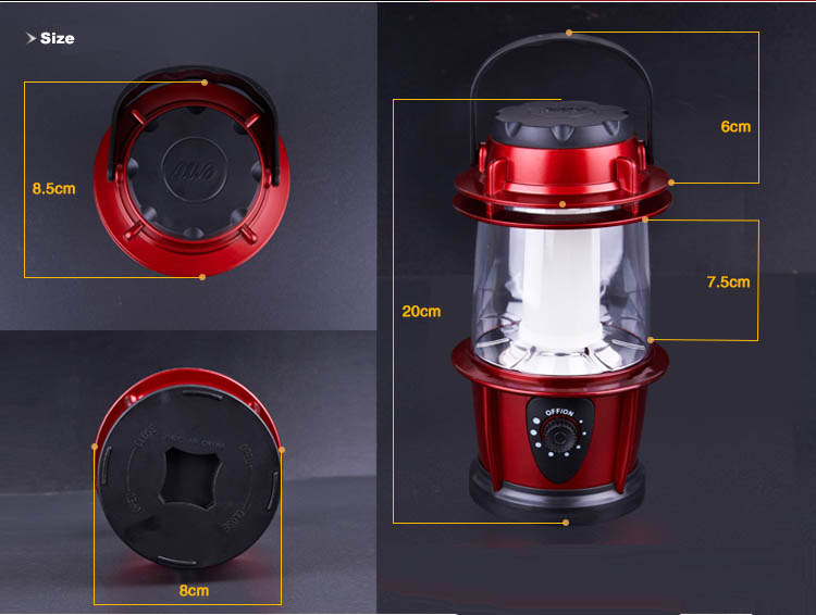 16 LED Dimmable LED Camping Lantern Light Lamp
