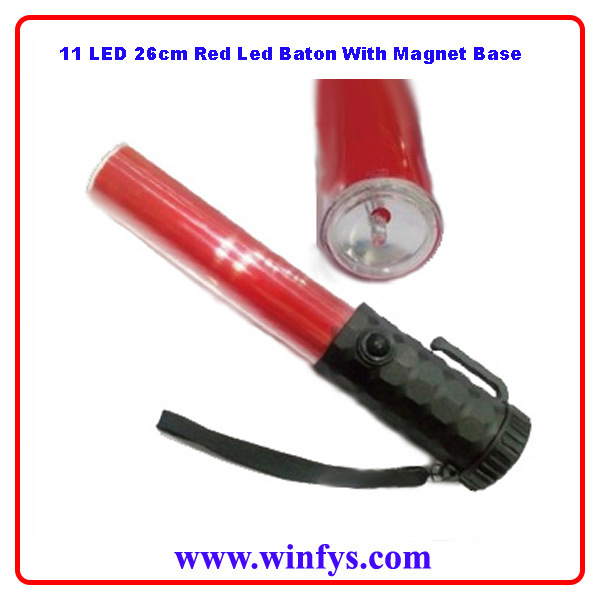 Red Led Baton With Magnet Base
