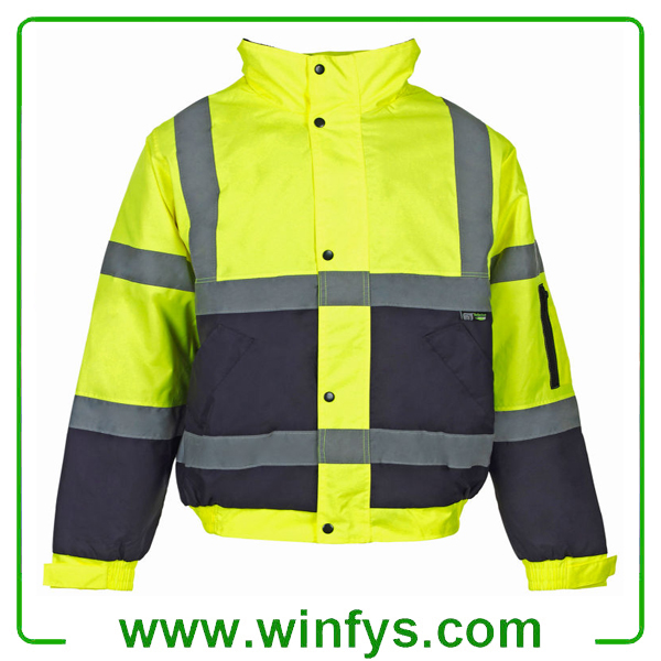 High Visibility Orange Yellow Winter Reflective Safety Wear