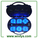6 Pack Rechargeable Led Power Flares Led Road Flares Blue