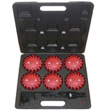Rechargeable led emergency flares 6pk
